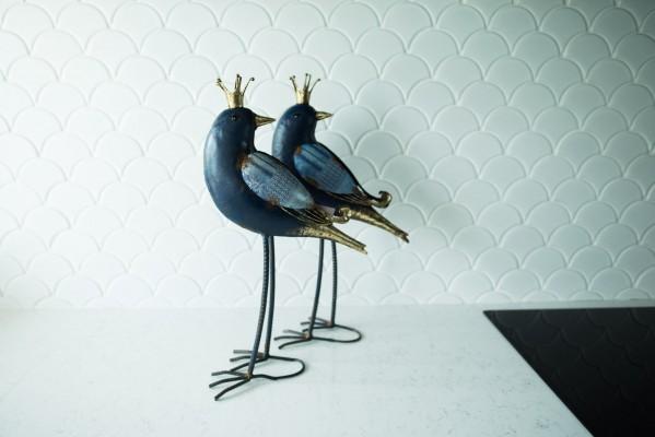 Figurka ptak z metaloplastyki