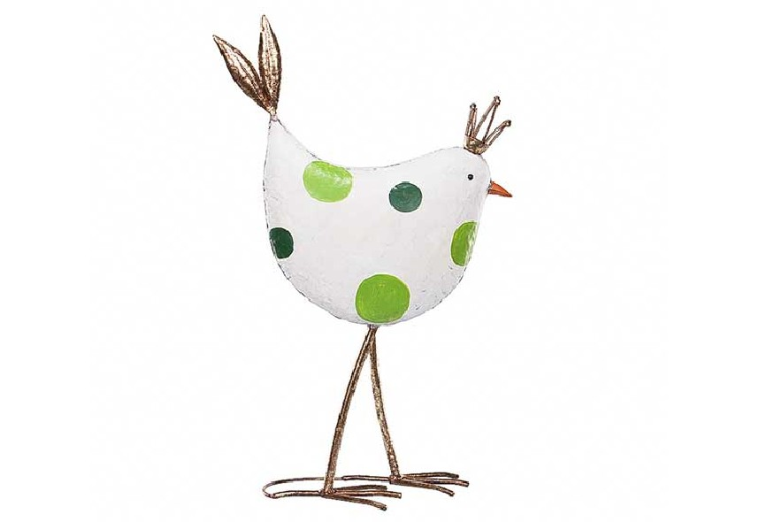 Figurka kury w koronie Home Decoration wys. 64 cm