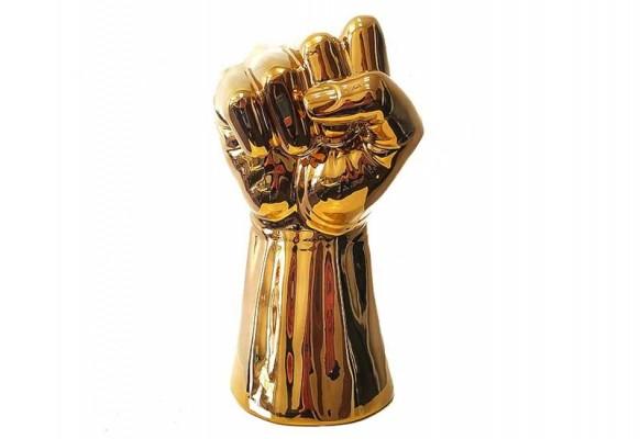 Figurka ceramiczna Pięść Gold Home Decoration 29 cm