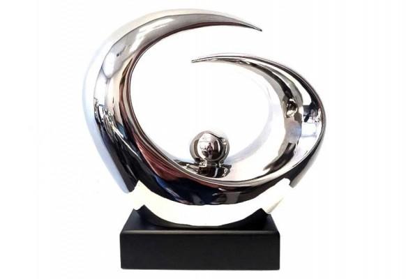 Figurka ceramiczna Rumba Silver od Home Decoration 24 cm