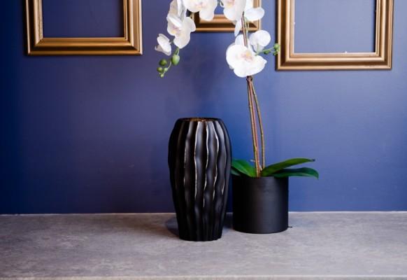 Wazon David szklany czarny mat Home Decoration