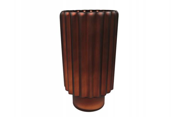 Wazon Kaja brązowy mat z błyszczącym brązowym wnętrzem Home Decoration 30 cm