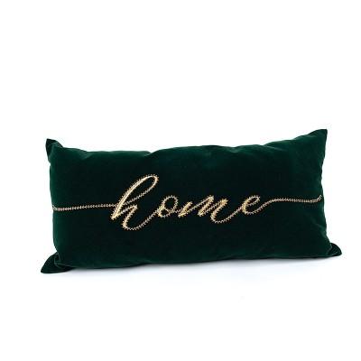 Poduszka dekoracyjna Home - butelkowa zieleń 50 x 25 cm