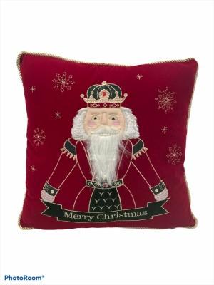 Poduszka dekoracyjna Dziadek do orzechów w kolorze bordo  45 x 45 cm