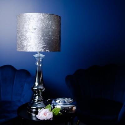 Lampa szklana Nessa Silver 70cm Home Decoration