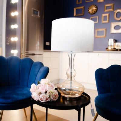 Lampa szklana Mia Gold 59cm Home Decoration