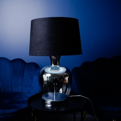 Lampa szklana Logan Silver 63cm od Home Decoration
