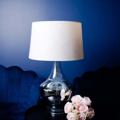 Lampa szklana Nolan Silver 65 cm Home Decoration