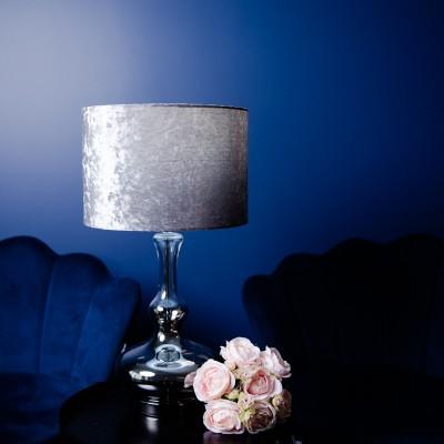 Lampa szklana Mia Silver 59 cm Home Decoration