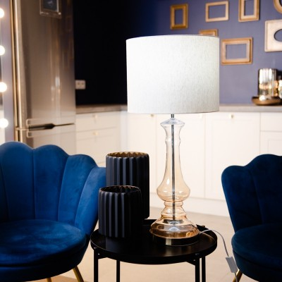 Lampa szklana Nessa Gold 70 cm Home Decoration