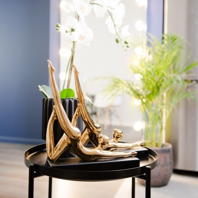 Figurka ceramiczna Joginka Gold 32 cm Home Decoration