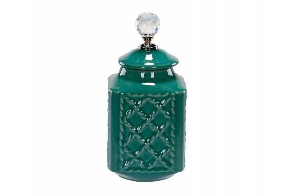 Pojemnik dekoracyjno-użytkowy butelkowa zieleń