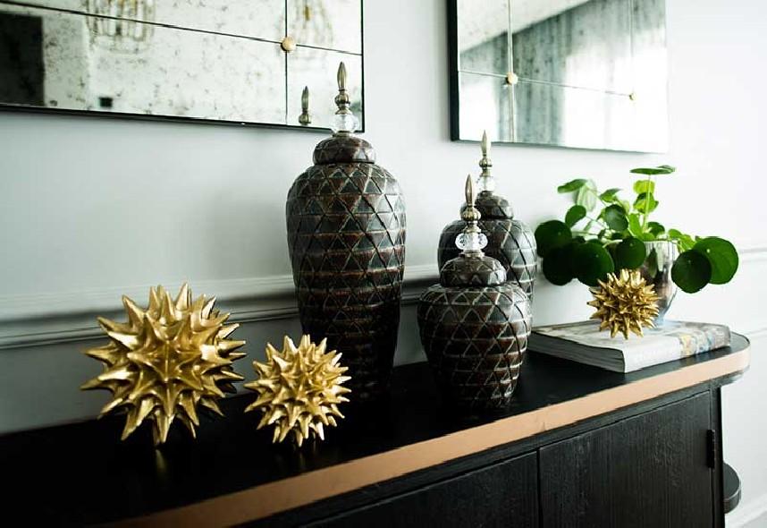 Zestaw brązowych pojemników Home Decoration