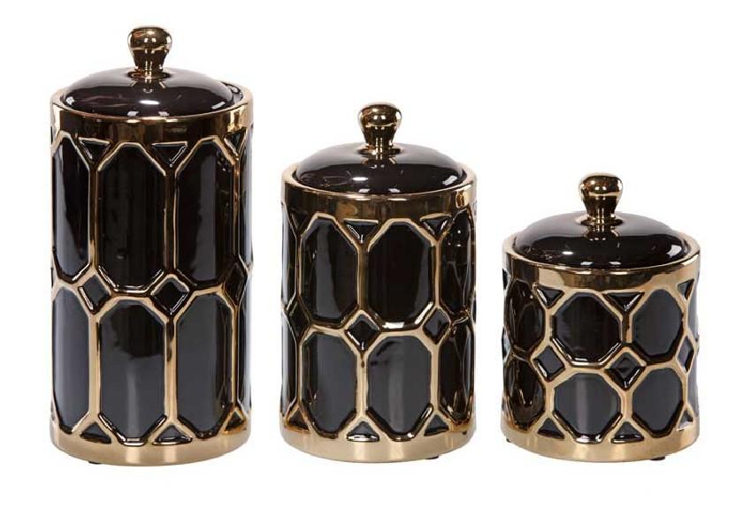 seria pojemników dekoracyjnych i użytkowych