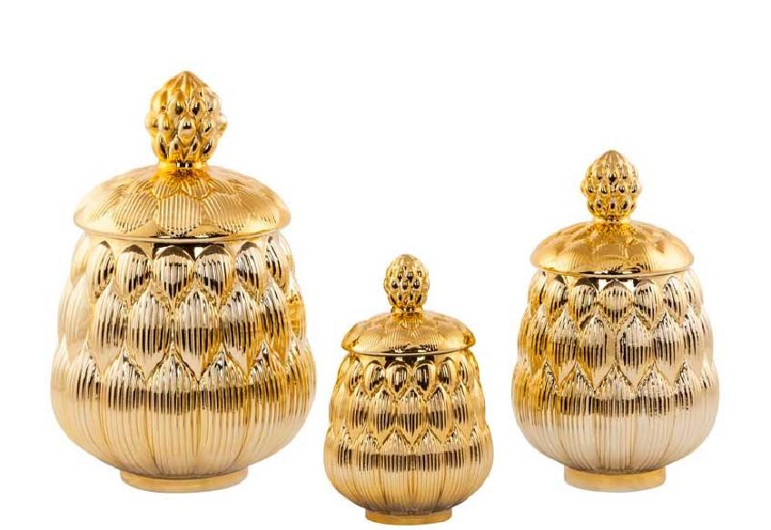 Pojemniki złote dekoracyjne
