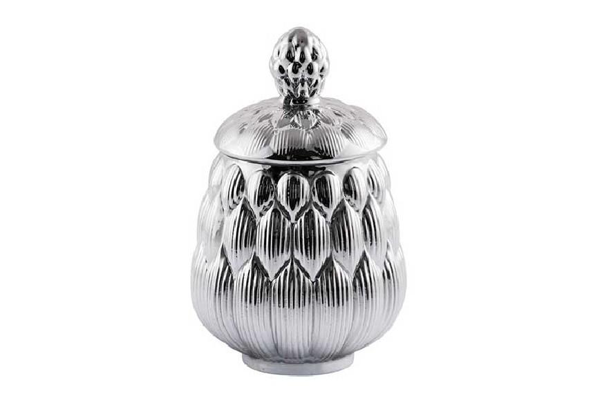 Pojemnik dekoracyjny srebrny