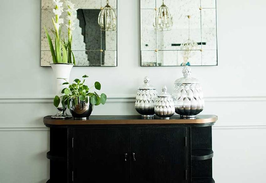 Modne srebrne pojemniki szklane