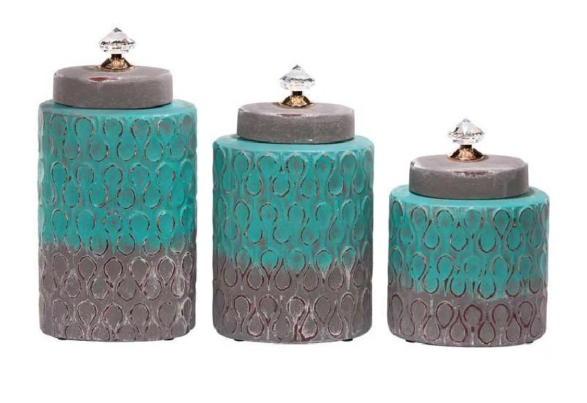 Pojemniki dekoracyjne z kryształem