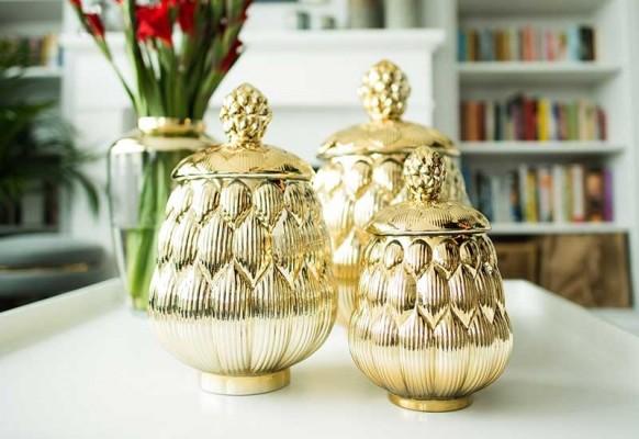 Pojemniki złote Home Decoration