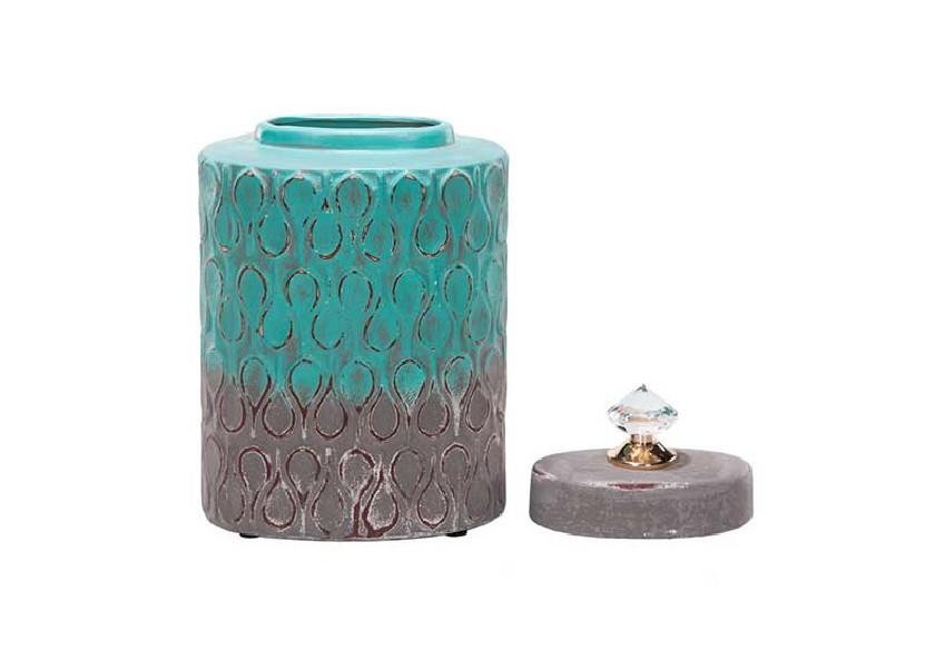 pojemnik dekoracyjny z kryształem