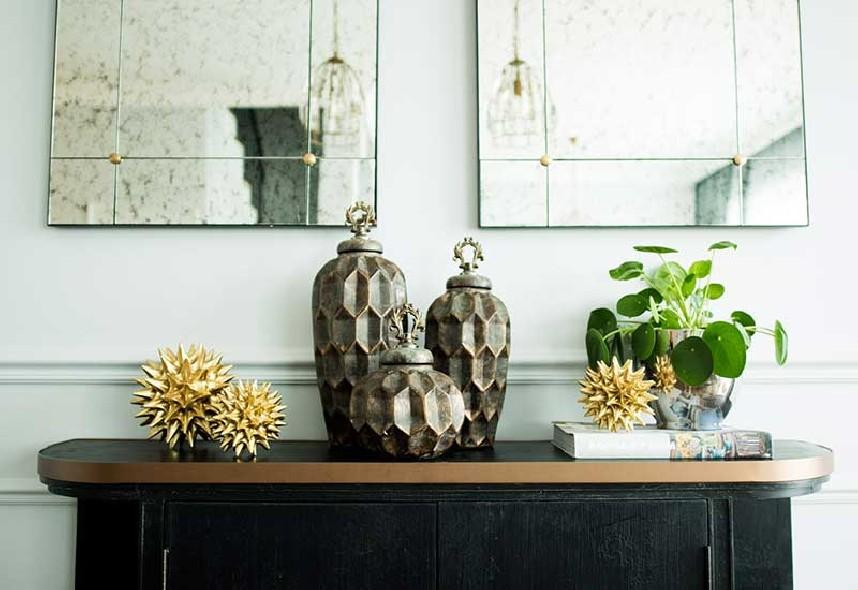 Pojemniki dekoracyjne brązowo-miedziane