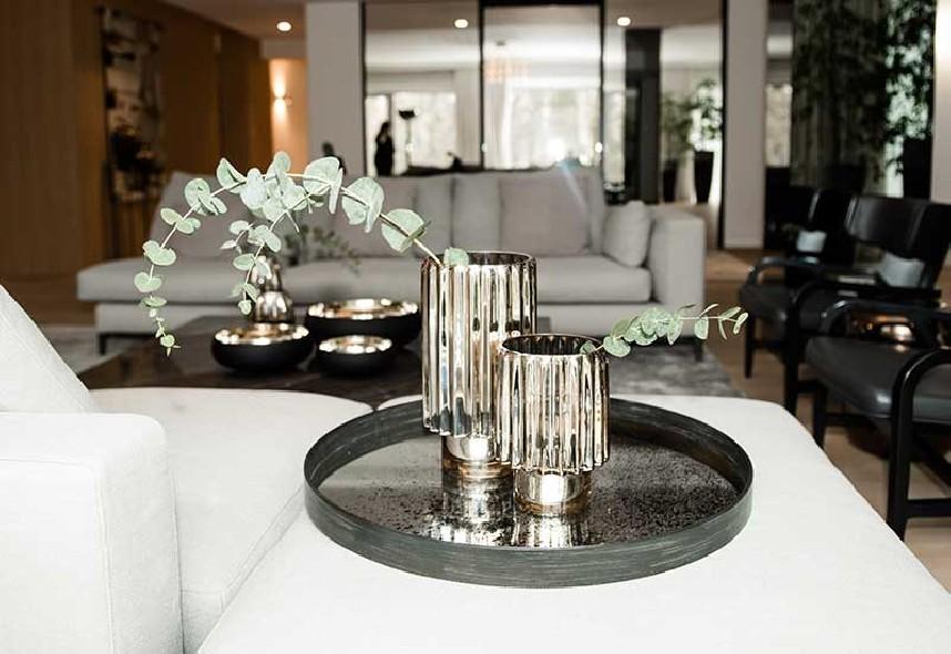 świecznik wazon złoty